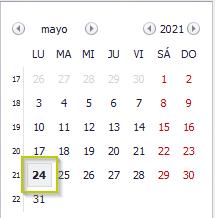 Calendario de Navegación