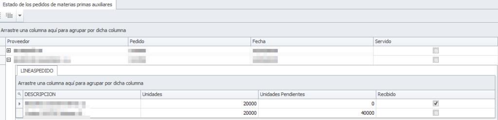 Nueva composición grid estado pedidos a proveedor