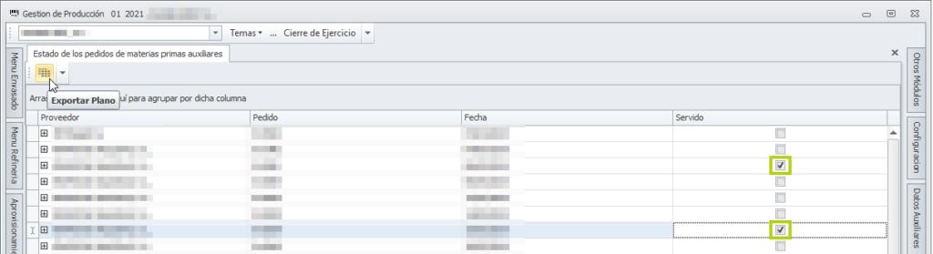 Imprimir a fichero plano estado pedidos proveedor