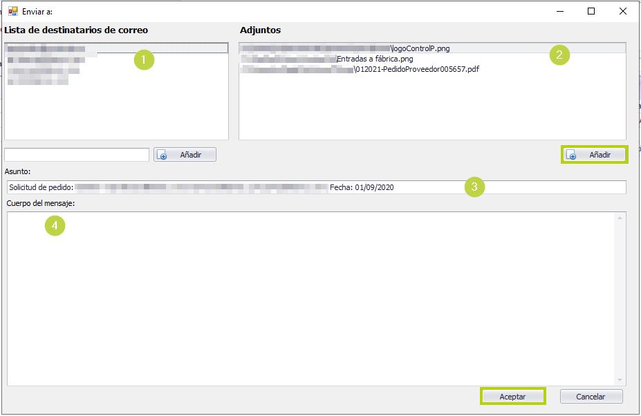 Envio email pedido proveedor con doc asociados
