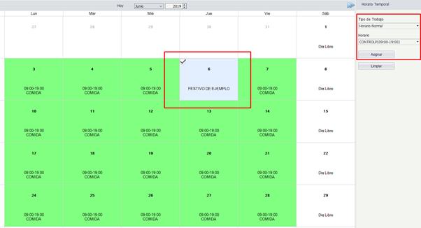 Calendario festivo laboral