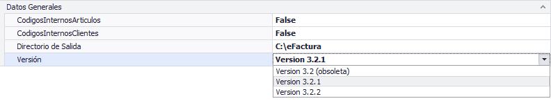 Configuración datos generales efactura