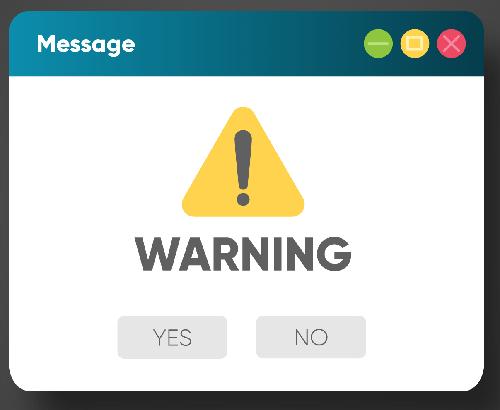 Mensaje advertencia